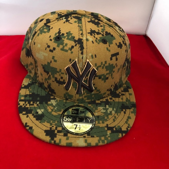 8f147bf4ac98d MLB 59fifty NY Yankees Fitted Hat 7 1 2 New Camo